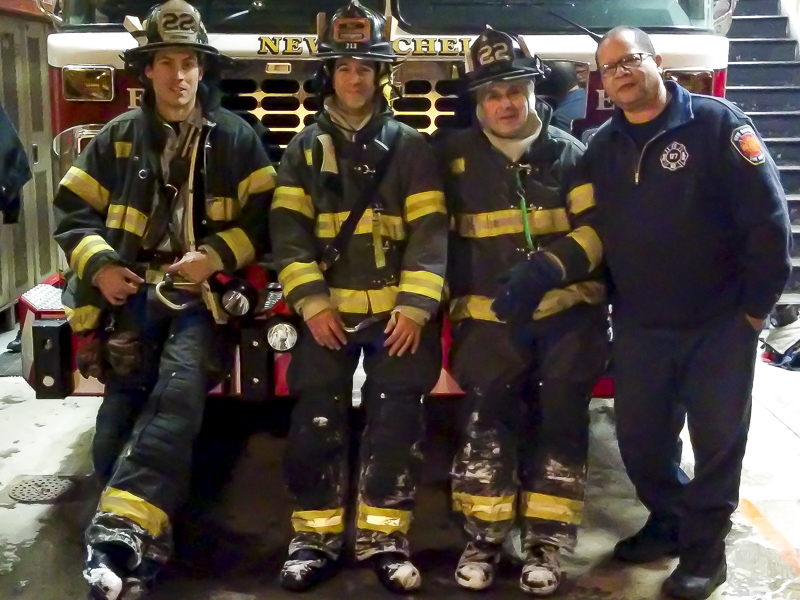 Engine 22 crew during the blizzard