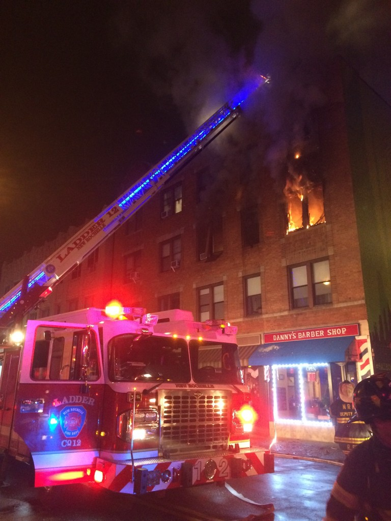Fire Roars out of Bedroom Windows